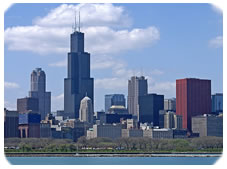 Commercial Window Cleaning in Chicago Skyline